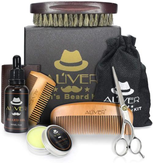 Beard Brush And Comb Set Grooming Kit