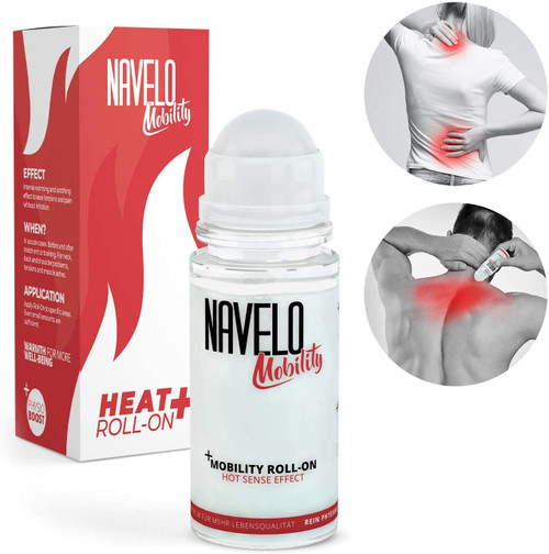 Navelo Tension and Pain Relief Heat Sense Effect Roll On
