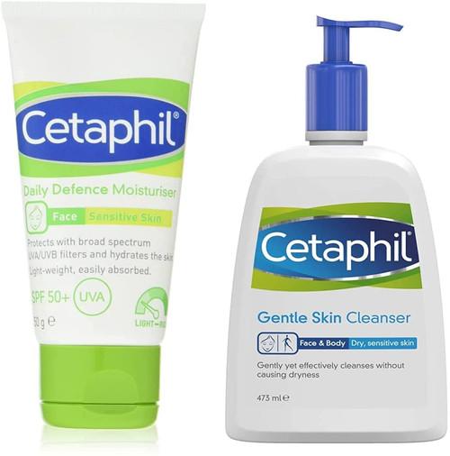 Cetaphil Daily Defence Face Moisturiser plus Gentle Skin Cleanser Set