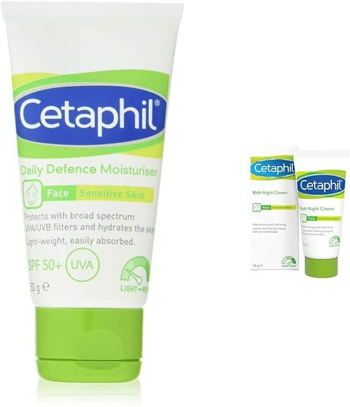 Cetaphil Daily Defence Face Moisturiser plus Rich Night Cream Set