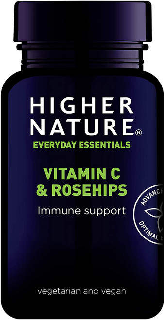 Higher Nature Immune Support Rosehips and Vitamin C - 90 Tablets