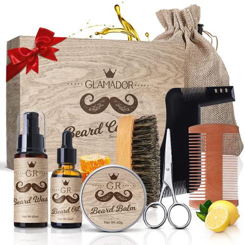 Beard Grooming Kit GLAMADOR Beard Trimming Set