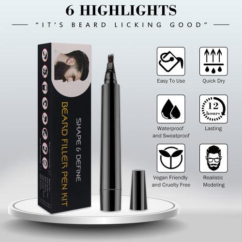 Beard Filler Pencil Beard Filling Pen Kit-Brown