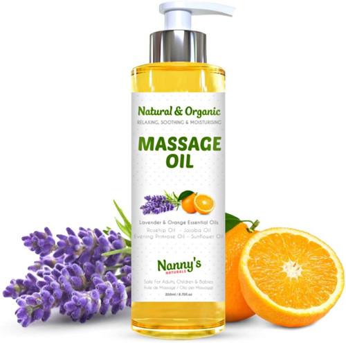 Natural & Organic Massage Oil & Body Oil-250ml