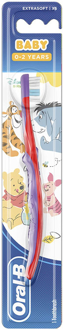 Oral-B Unique Rounded Head Manual Stages Kids Toothbrush - 4-24 Months