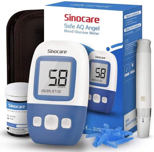 sinocare 5 Seconds Quick Measurement Diabetes Test Sugar Kit - 25Strips-25Lancets