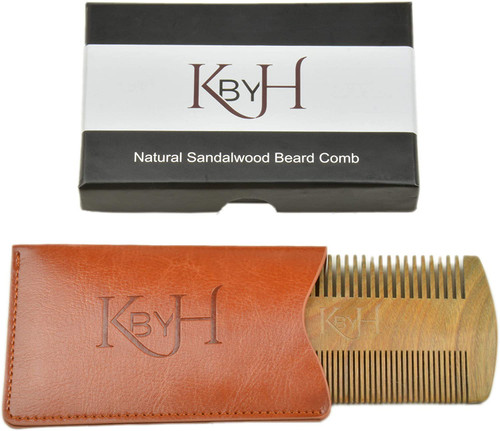 KBYH Natural Sandalwood Beard Comb
