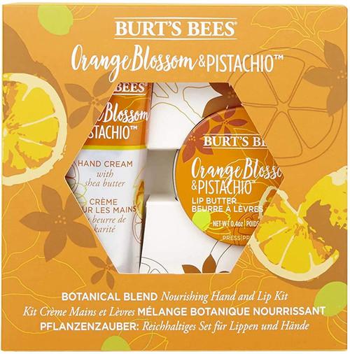 Burts Bees Moisturising Gift Set-Hand And Lip Kit Orange