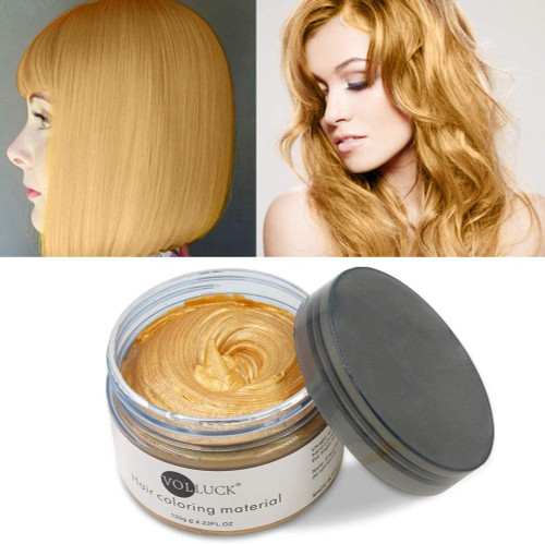 Temporary Hairstyle Cream Color Wax-Gold