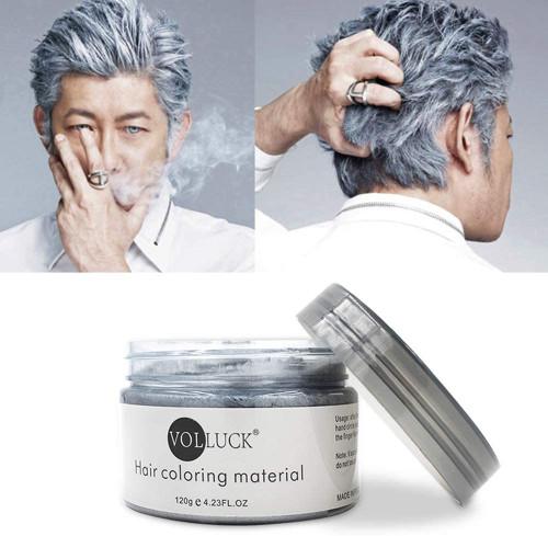 Temporary Hairstyle Cream Color Wax-Grey
