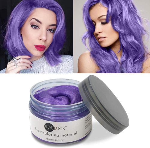 Temporary Hairstyle Cream Color Wax-Purple