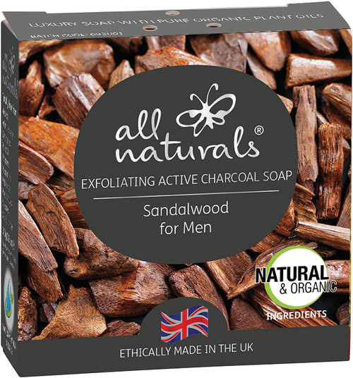 All Naturals Daily Cleaning Men Sandalwood Charcoal Soap - 100g