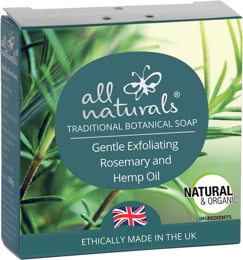 All Naturals Daily Cleaning Rosemary and Hemp Oil Soap - 100g