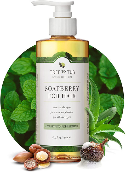 Shampoo for oily hair by tree to tub