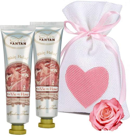 Un Air d Antan Rose and Peach Restorative Hand Cream Pack - Pack of 2