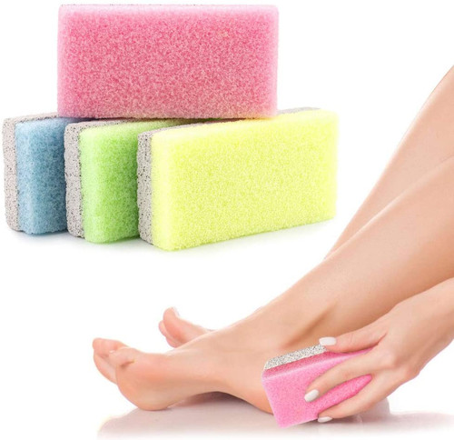 Rough and Dry Skin Removal Double Sided Foot Pumice Stone - Pack of 4