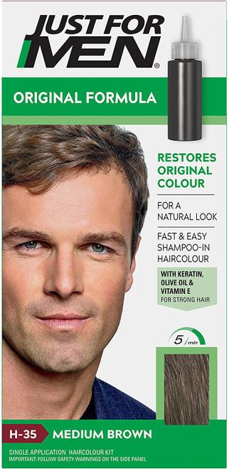 Just for men Original Formula Hair Dye-Medium Brown