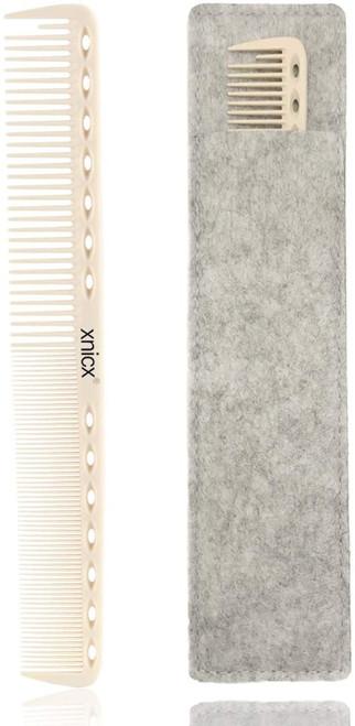 Xnicx Ivory White Barber Comb 14 holes