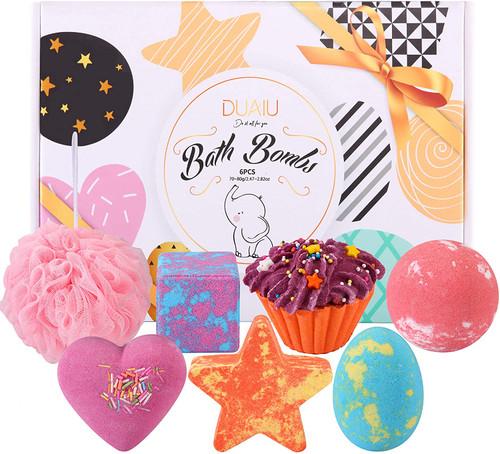 Bath Bombs Gift Set DUAIU Fizzy Bubble Bath-6pcs