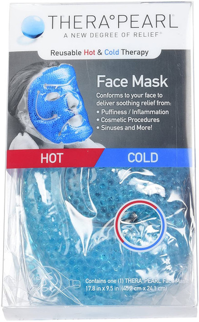 TheraPearl Inflammation and Pain Soothing Full Face Mask