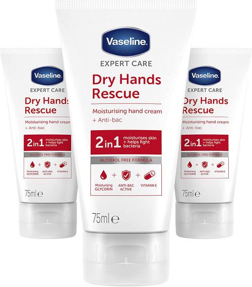 Vaseline Anti Bac Intensive Care Hand Cream-3x75 ml