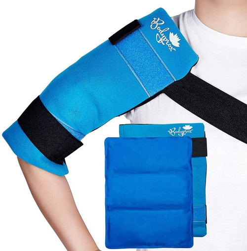 Bodyprox Hot and Cold Therapy Flexible Large Gel Ice Pack for Shoulders