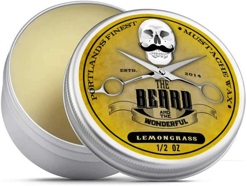Lemongrass Moustache Wax Premium Strong Solution