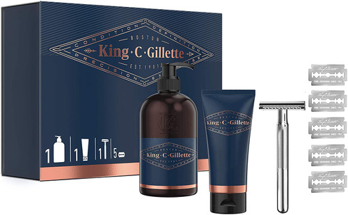 King C Gillette Double Edge Range Gift Set for Men