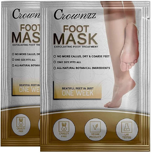 Crownzz Dry and Coarse Foot Exfoliating Peel Mask