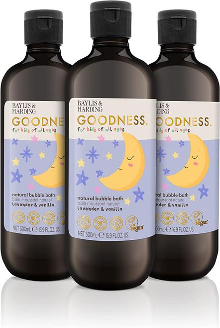 Baylis and Harding Goodness Kids Bubble Bath-3x500ml