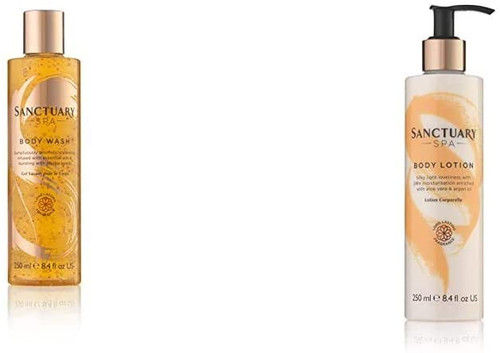 Sanctuary Spa Body Wash and Lotion-250 ml