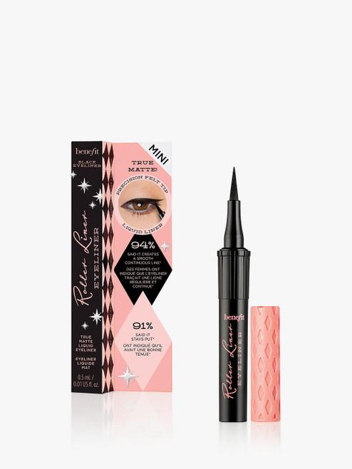 Benefit Roller Liner Eyeliner Black True Matte Liquid Eyeliner Travel Sized Mini-0.5ml