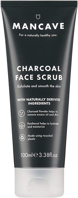 ManCave Charcoal Face Scrub-100ml