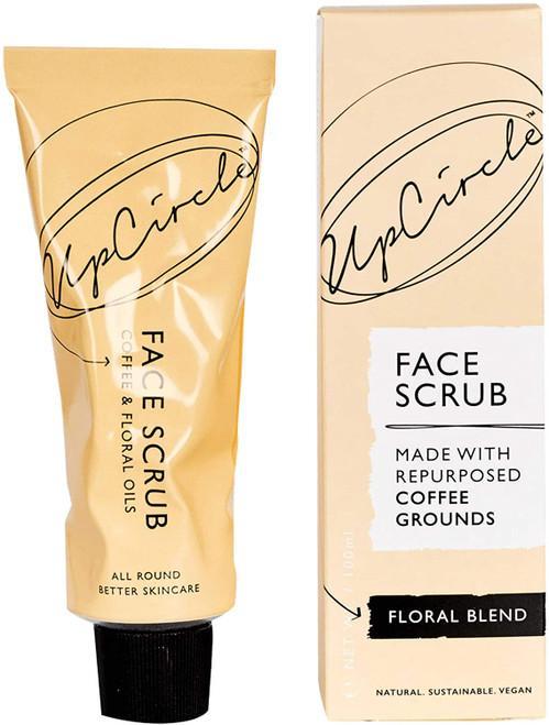 UPCIRCLE Coffee Face Scrub Vegan Face Exfoliator-Sensitive Skin