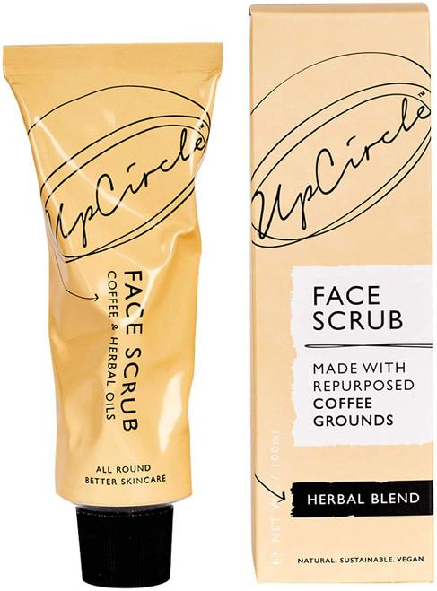 UPCIRCLE Coffee Face Scrub Vegan Face Exfoliator-Oily Skin