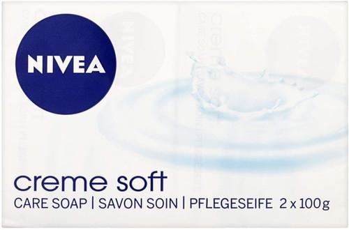 NIVEA Creme Soft Creme Soap Pack of 2-2 x 100 g