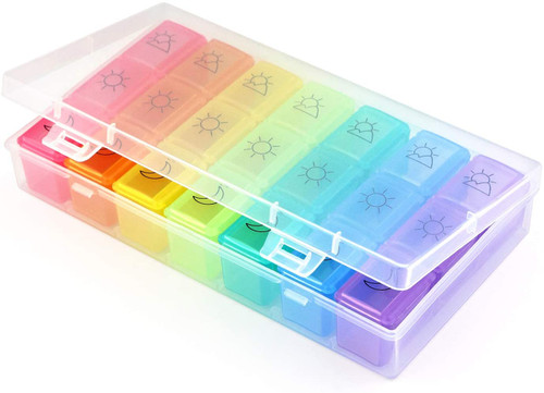 SENWOW Weekly Pill Organizer with Separate Compartments