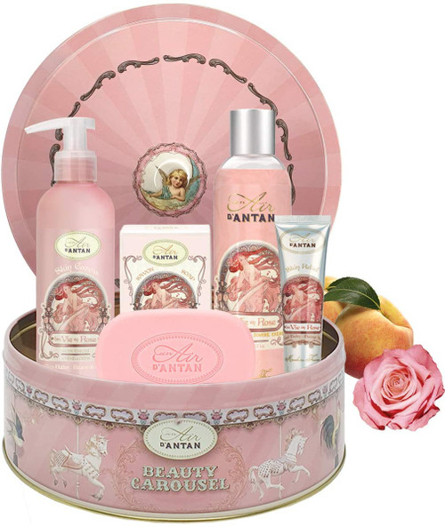 ROSE PEACH and PATCHOULI Gifts Hamper Basket