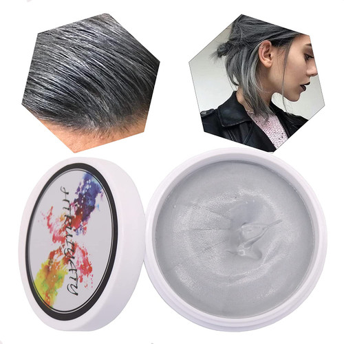 DIY Washable Hair Dye Non Permanent Hair Paint Wax-Grey