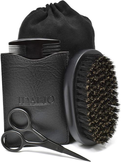 IDALIO Beard Brush and Comb Set for Men