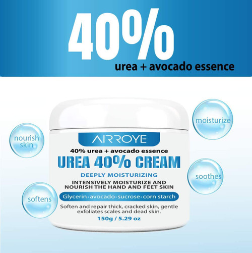 Urea 40 Percent Foot Cream for Cracked Heels and Dry Skin