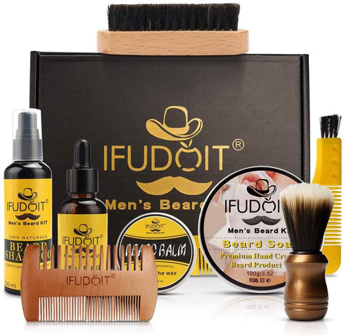 Mens Beard Grooming Kit-8 In 1