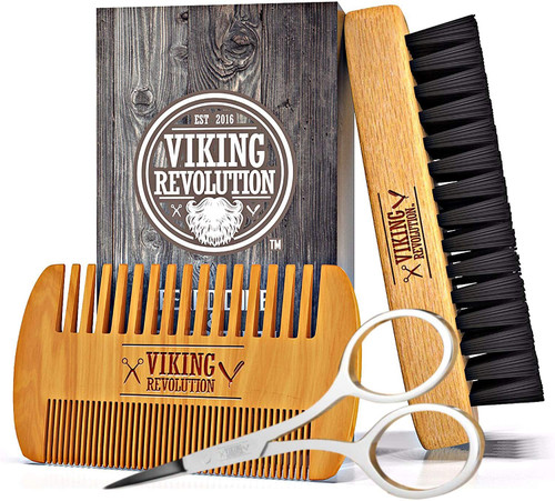 Beard Comb And Beard Brush Set for Men