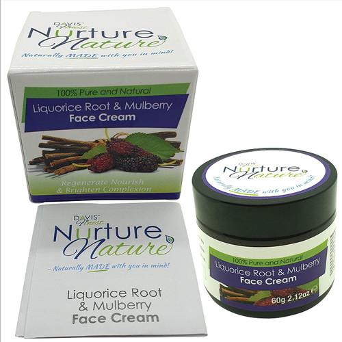 Davis Finest Nurture Nature Liquorice Root And Mulberry Face Cream