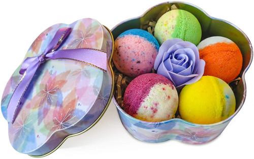 5 Plus 1 Bath Bombs Gift Set 100 Percent Handmade