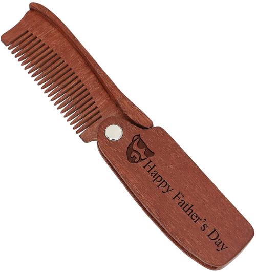 Custom Wooden Beard Comb For Men