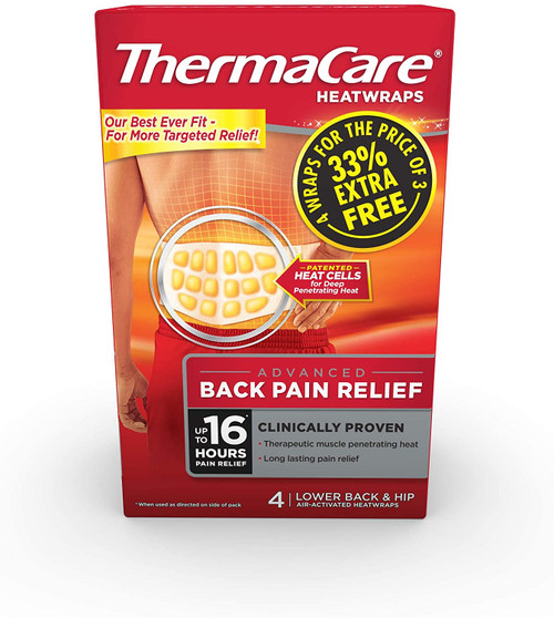 ThermaCare Lower Back and Hip Pain Heat Therapy Wraps - 1pack