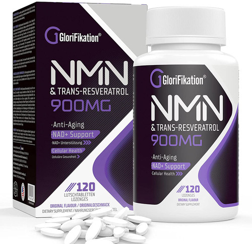Glorifikation Sublingual NMN Trans-Resveratrol Anti-Aging Lozenges -120