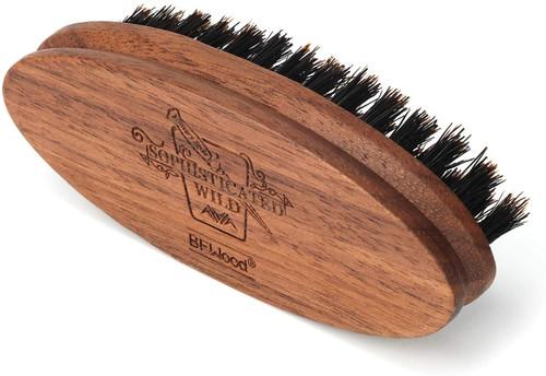BFWood Pocket Beard Brush - Medium Firmness