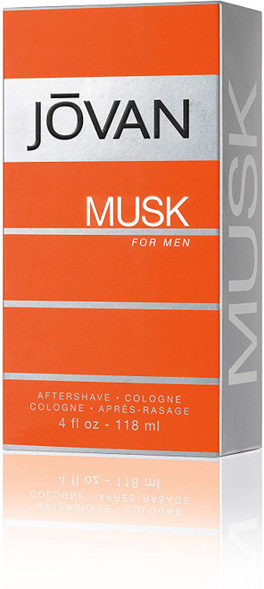 Jovan Musk Exotic Aftershave Lotion for Men - 118 ml